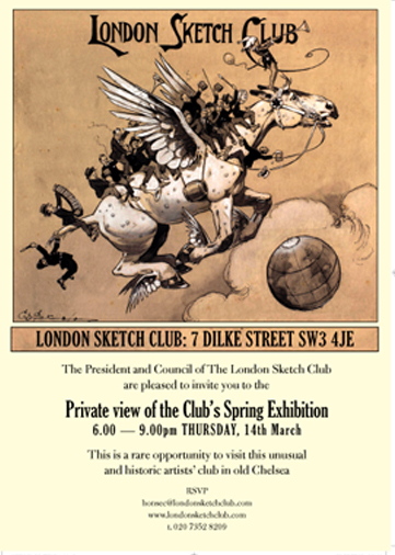 The London Sketch Club Spring Private View
